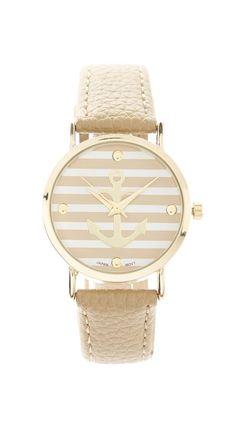 Geneva Platinum Bone Anchor Bracelet Watch