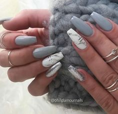 nailart naildesigns marblenails by philglamournails beverlyhills lifestyle Marble Acrylic Nails, Acrylic Nails Coffin Short, Almond Acrylic Nails, Summer Acrylic Nails, Best Acrylic Nails, Cute Acrylic Nail Designs, Coffin Nails, Summer Nails, Grey Nail Designs