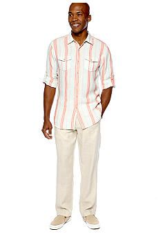 Ocean & Coast™ Sandstriped Linen Woven Shirt & Toes In The Sand Pant