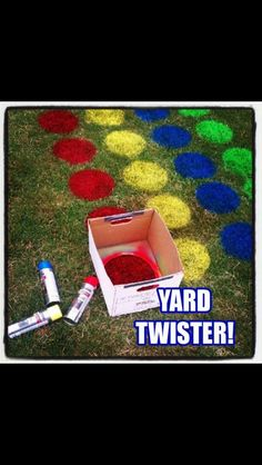 Yard Twister! Great idea! I'm so doing this for J boy!