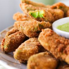 Avacado Fries -- 2  avacados, 2  eggs, 1 1/2 c  bread crumbs, 1  lime peel grated, 1/2 tsp  cumin, 1 tsp  salt,  oil for frying