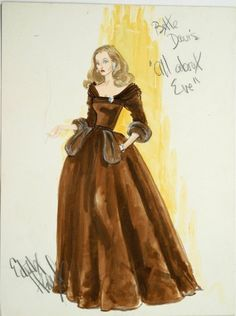 Bette Davis, Original Dress Sketch inAll About Eve, designed by Edith Head