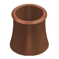 Chimney Pot - 300mm   Straight Roll Top - Red    Chimney Pot - 300mm - Straight Roll Top - Red