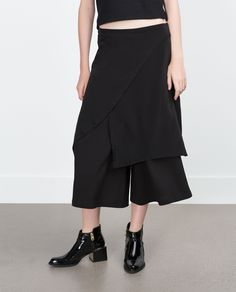 CROPPED PALAZZO TROUSERS - Trousers - TRF | ZARA Spain