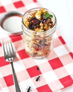 Mason Jar Wheat Berry & Apple Salad
