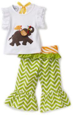 Amazon.com: Mud Pie Baby-Girls Safari Elephant Yoga Pant Set: Clothing $29.00