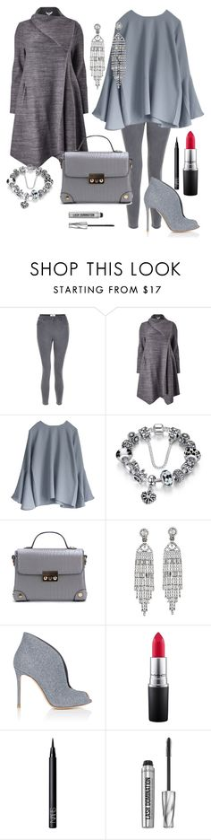 """""""50 shadows of grey"""" by natalisdomini ❤ liked on Polyvore featuring New Look, Studio 8, Kenneth Jay Lane, Gianvito Rossi, MAC Cosmetics, NARS Cosmetics and Bare Escentuals"""