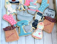 What a fun set of cookies to make for a friend! I've been waiting for over a month to post the John is the store manager at one of my favorite stores, Sur La Table®. He was heading out West to a ma...