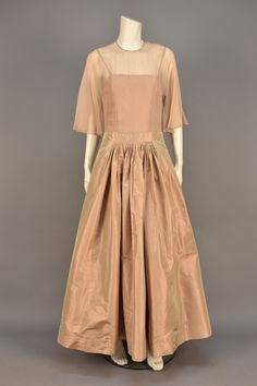 ID 14-9 MADAME GRES CHANGEABLE SILK EVENING DRESS and JACKET, EARLY 1970s. - whitakerauction