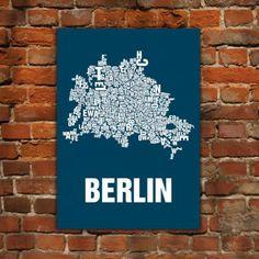 Berlin Siebdruck - Buchstabenorte