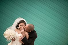 Bride and groom pose for their portraits in Northern VA. Caputred by Northern Virginia wedding photographer Ben Lau.