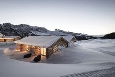noa* (network of architecture) completes the renovation and expansion of the zallinger refuge at the seiser alm, or alpe di siusi, in the italian dolomites. Italy Architecture, Architecture Photo, Alpine Village, Green Building, Cladding, Hotel Offers, House Styles, Gallery, Sketch Design