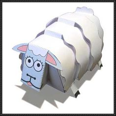 Christmas Sheep Free Paper Toy Download - http://www.papercraftsquare.com/christmas-sheep-free-paper-toy-download.html
