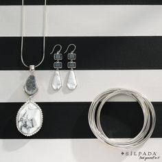 "Black & White: Always ""just right"" #Silpada #jewelry. www.mysilpada.com/dawn.radtke"