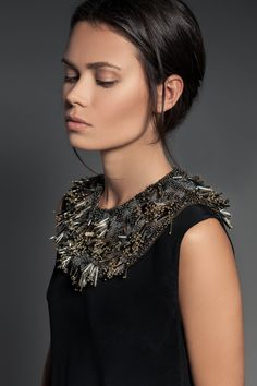 """The GWEN piece. Hand-beaded neck piece By PIECE. // The """"Volume 1"""" Collection  www.piece-collection.com"""