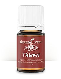 Thieves Blend is a powerhouse for your body's defense system. Diffuse it to detoxify the air in your home, apply it topically to boost immunity, or take a few drops to eliminate germs that cause throat infections, or to relieve symptoms. Thieves is also a remarkable tool for dental care. :: Visit www.oilingmyworld.com for more information. Young Living Independent Sponsor/Enroller ID# 1462602