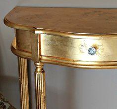 Distressed Gold Painted Furniture Metallic Painted Furniture, Paint Wood  Furniture, Painted Wood, Looking