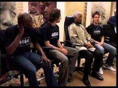 Nelson Mandela and Josh Groban