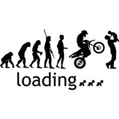 Evolution Enduro mit Vater und Kind loading - Die Evolution des Menschheit in Bilder bis hin zur Endurocross und einen jungen Vater der sein Baby hochhebt. F�r alle werdeten Biker V�ter. Mit Schwangerschafts Ladebalken... Motorcycle Clipart, Motorcycle Art, Bike Art, God Centered Relationship, Motocross Love, Biker Baby, Bike Drawing, Myths & Monsters, Biker Tattoos