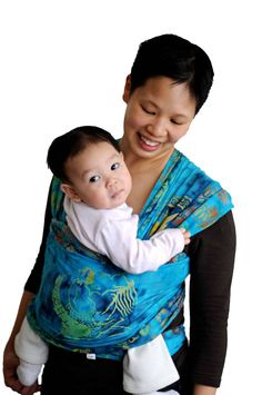 How to wrap baby carriers (moby style wraps)