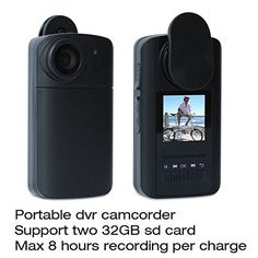 Conbrov (Tm) HD Cam Mini Pocket Video Security Camera body worn wearable camera DVR Video Recorder Travel Smart digital camcorders with Two Wearable Clips LCD Screen Rechargeable Battery Recording device DV for Max 8 Hours Sports Camera Wireless Spy Camera, Wireless Surveillance Camera, Video Surveillance Cameras, Surveillance Equipment, Video Security System, Security Systems, Security Guard, Covert Cameras, Hidden Spy Camera
