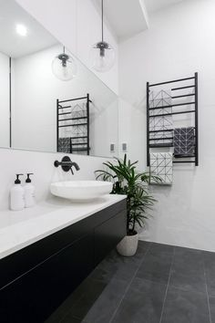 31 Interesting Black And White Bathroom Design Ideas. If you are looking for Black And White Bathroom Design Ideas, You come to the right place. Below are the Black And White Bathroom Design Ideas. Bathroom Floor Tiles, Bathroom Toilets, Bathroom Renos, Laundry In Bathroom, Bathroom Renovations, Small Bathroom, Bathroom Cabinets, Bathroom Black, Charcoal Bathroom