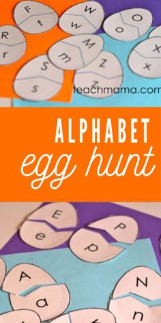 Get little ones learning a little while they hunt for uppercase and lowercase ABCs! Kids LOVE this fun spin on an alphabet match! Easter Activities For Kids, Educational Activities For Kids, Alphabet Activities, Toddler Preschool, Reading Activities, Teaching The Alphabet, Teaching Kids, Kids Learning, Teaching Phonics