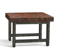 Beau Griffin Reclaimed Wood U0026 Wrought Iron Square Coffee Cube Table, Set Of 2