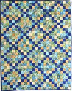 Irish Chain Strip Quilt in Hoffman Batiks by Cheri Good Quilt Design