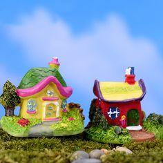 2Pcs Dollhouse Miniature Christmas Tree Fairy Garden Doll House Decorat TG