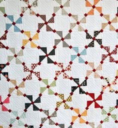 Twitter Quilt Pattern. Pinwheel quilts are my favorite -- this is a nice twist.