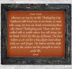 Thanksgiving Prayer.  #thanksgivingprayer Thanksgiving Feast, Thanksgiving Prayers, Inspirational Prayers, Beautiful Prayers, Prayer Scriptures, Dear God, Give Thanks, Favorite Holiday, Gratitude