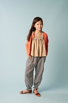 Casual but cool kidswear from Anais and I spring 2015 girlswear