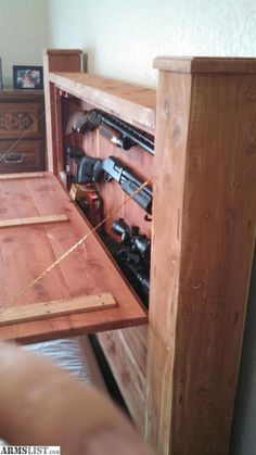 Exclusive - ARMSLIST - For Sale: Hideaway Gun Safe Fight for your Second Amendment rights with our exclusive IPac T-shirt! Grab your FREE T-shirt below. Woodworking Furniture Plans, Diy Furniture, Woodworking Projects, Woodworking Classes, Woodworking Techniques, Fine Woodworking, Woodworking Videos, Woodworking Logo, Woodworking Magazine