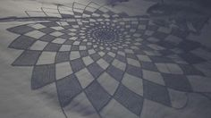 Crop circles in the snow, by Simon Beck.  These are amazing!