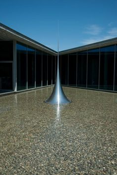"""Art Center, Chateau La Coste, France designed by Tadao Ando with sculpture """"Infinity"""" by Hiroshi Sugimoto"""