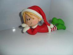 Porcelana fria polymer clay pasta francesa masa flexible fimo gum paste figurine modelado topper xmas christmas navidad nstal