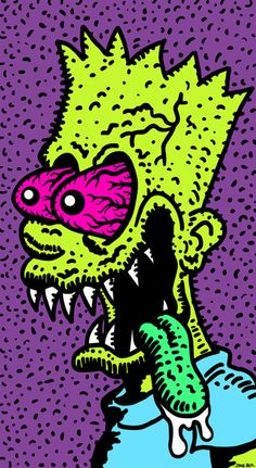 Trippy Animated GIF – color of life Trippy Gif, Trippy Drawings, Trippy Wallpaper, Trippy Stuff, Trippy Cartoon, Trippy Alien, Simpsons Drawings, Simpsons Art, Arte Dope
