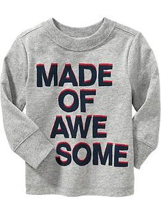"""Awesome"" Tees for Baby 