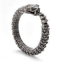 William Henry Sterling Silver Snake Bracelet