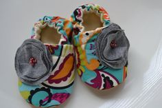 Paisley baby girl shoes - adorable!