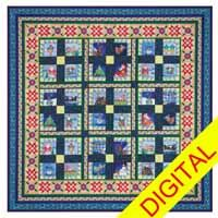 Comfy Cozy Are We Christmas Digital Quilt Pattern from QuiltandSewShop.com