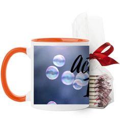 Actually I Can Mug, Orange, with Ghirardelli Peppermint Bark, 11 oz, Black