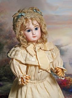 FRENCH BISQUE BEBE JUMEAU WITH EARLY TETE FACE.Marks: : Lot 13