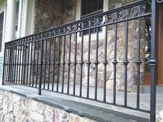 71 Elegant Collection Of Cast Iron Railings Wrought Iron Porch Railings, Rod Iron Railing, Cast Iron Railings, Outdoor Stair Railing, Front Porch Railings, Metal Railings, Wrought Iron Fences, Deck Railings, Porch Handrails