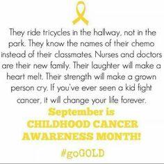 September - Childhood Cancer Awareness Month! #GoGold.