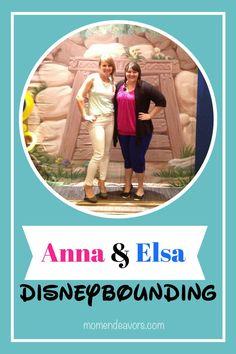 Anna & Elsa DisneyBounding #DisneySMMoms