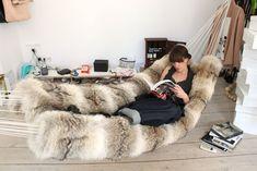 fur hammock