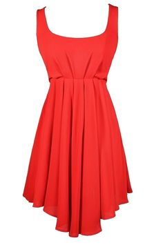 Flouncy Bow Back Dress in Tomato  www.lilyboutique.com