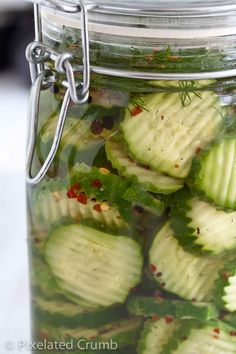 Put in book Spicy Crunchy Dill Pickles. Refrigerator pickles are ready in about a month Chutney, Homemade Pickles, Spicy Pickles, Spicy Refrigerator Pickles, Canning Pickles, Homemade Jelly, Canning Recipes, Spicy Pickle Recipes, Canning Tips